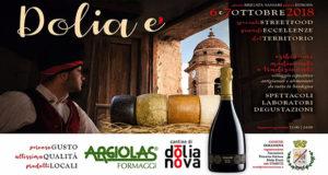 Banner Dolia è, percorso gusto, altissima qualità, prodotti locali e speciali street food - Dolianova - 6 e 7 Ottobre 2018 - ParteollaClick