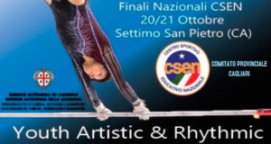 Banner Finali nazionali di Ginnastica artistica e ritmica CSEN Youth Artistic & Rhythmic - Settimo San Pietro - 20 e 21 Ottobre 2018 - ParteollaClick