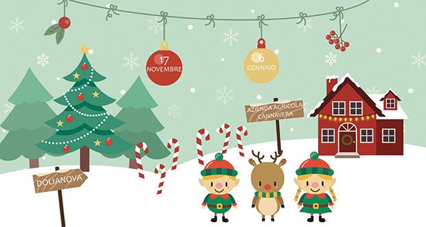 Banner Christmas Garden, il giardino incantato di Natale nell'Azienda Agricola Cannavera - Dolianova - Dal 17 Novembre 2018 al 6 gennaio 2019 - ParteollaClick