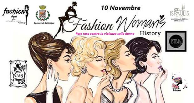 Banner Fashion Woman's History, la storia della donna raccontata attraverso la moda - Is Paulis Area Club, Serdiana - 10 Novembre 2018 - ParteollaClick