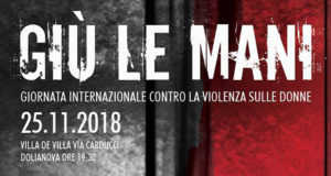 Banner Giù le mani, conferenza e spettacolo teatrale contro la violenza sulle donne - Dolianova - 25 Novembre 2018 - ParteollaClick