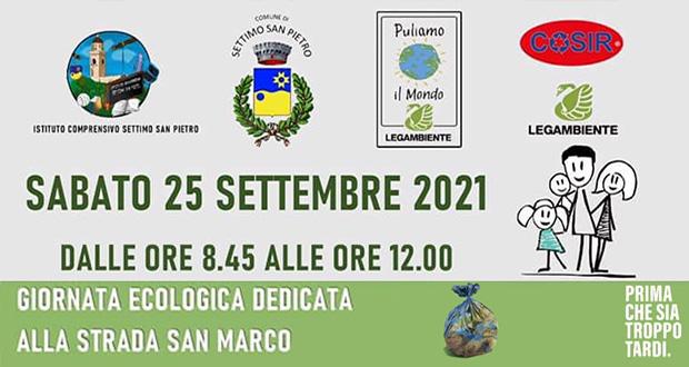 Banner Puliamo il Mondo, giornata di volontariato ambientale sui rifiuti abbandonati - Settimo San Pietro - 25 Settembre 2021 - ParteollaClick