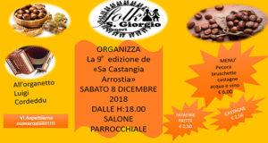 Banner 9ª Edizione Sa Castangia Arrostia, Castagne, Pecora, Bruschette, Acqua, Vino e Folklore - Donori - 8 Dicembre 2018 - ParteollaClik
