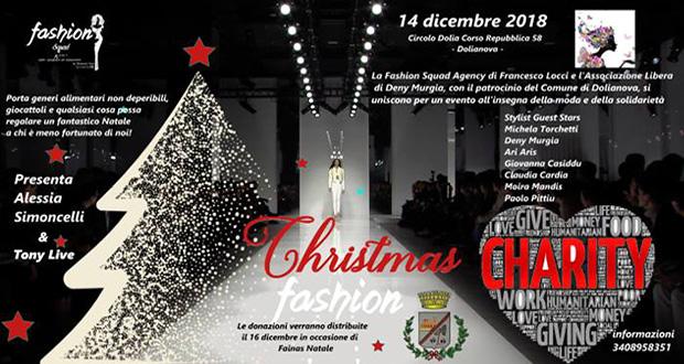 Banner Christmas Fashion, sfilata di moda per beneficenza - Dolianova, Circolo Dolia - 14 Dicembre 2018 - ParteollaClick
