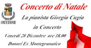 Banner Concerto di Natale della pianista Giorgia Cugia - Donori, Ex Montegranatico - Venerdì 28 Dicembre 2018 - ParteollaClick