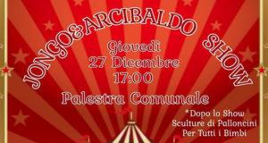 Banner Jongo & Arcibaldo Show, spettacolo di giocoleria - Donori, Palestra Comunale - 27 Dicembre 2018 - ParteollaClick