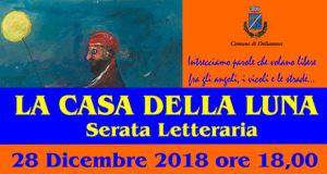 Banner LA CASA DELLA LUNA, serata letteraria nell'aula consiliare - Dolianova, Piazza Amendola 1 - 28 Dicembre 2018 - ParteollaClick