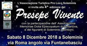 Banner Quarta edizione del Presepe Vivente - Soleminis - Sabato 8 Dicembre 2018 - ParteollaClick
