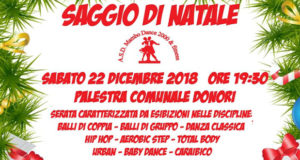 Banner Saggio di Natale 2018 della Scuola di Ballo Mambo Dance 2000 e Fitness - Donori, Palestra Comunale - 22 Dicembre 2018 - ParteollaClick
