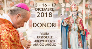 Banner Visita Pastorale dell'Arcivescovo di Cagliari S.E. Mons. Arrigo Miglio - Donori - 15, 16 e 17 Dicembre 2018 - ParteollaClick