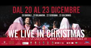 Banner We Live In Christmas, rievocazione itinerante del Natale in Costume Sardo - Barrali, Dolianova, Serdiana, Soleminis - Dal 20 al 23 Dicembre 2018 - ParteollaClick