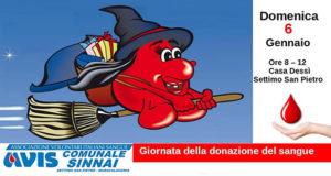Banner Giornata della Donazione di Sangue 2019 - Settimo San Pietro, Casa Dessy, Via Gramsci 79 - 6 Gennaio 2019 - ParteollaClick