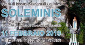 Banner Festa di Nostra Signora di Lourdes - Chiesa Parrocchiale San Giacomo Maggiore, Soleminis - 11 Febbraio 2019 - ParteollaClick