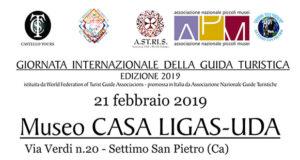 Banner Giornata Internazionale della Guida Turistica nella Casa Museo Ligas Uda - Settimo San Pietro - 21 Febbraio 2019 - ParteollaClick