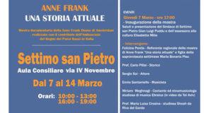 Banner Anne Frank una storia attuale, mostra della Anne Frank House di Amsterdam - Settimo San Pietro - Dal 7 al 14 Marzo 2019 - ParteollaClick