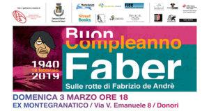 Banner Buon Compleanno Faber 2019, non una cover, non un omaggio e nemmeno un ricordo - Donori, Ex Montegranatico - 3 Marzo 2019 - ParteollaClick