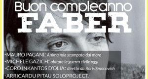 Banner Buon Compleanno Faber, serata culturale sulle rotte di Fabrizio De Andrè - Dolianova - 9 Marzo 2019 - ParteollaClick