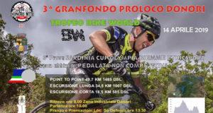 Baner 3° Gran Fondo Città di Donori, Trofeo Pro Loco, pedalata non competitiva - Donori, Zona Industriale - 14 Aprile 2019 - ParteollaClick