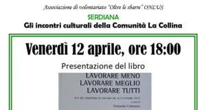 Banner Presentazione del libro Lavorare meno, Lavorare meglio, Lavorare tutti - Serdiana - 12 Aprile 2019 - ParteollaClick