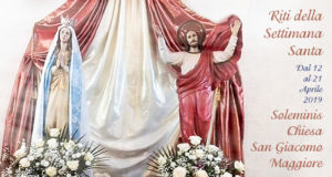 Banner Settimana Santa 2019 - Chiesa Parrocchiale San Giacomo Maggiore, Soleminis - Dal 12 al 21 Aprile 2019 - ParteollaClick