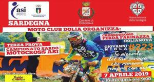 Banner Terza Prova del Campionato Sardo 2019 Motocross ASI - Dolianova, Crossodromo Perda Farinazza - 7 Aprile 2019 - ParteollaClick