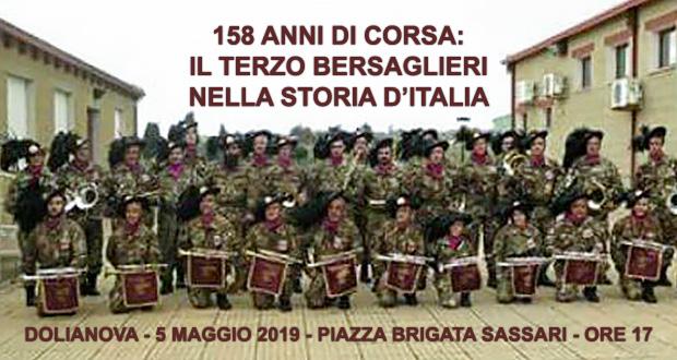 Banner 158 ANNI DI CORSA IL TERZO BERSAGLIERI NELLA STORIA D'ITALIA - Dolianova - 5 Maggio 2019 - ParteollaClick