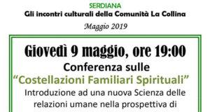 Banner Conferenza sulle Costellazioni Familiari Spirituali alla Comunità La Collina - Serdiana - 9 Maggio 2019 - ParteollaClick