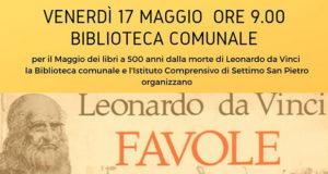 Banner Laboratorio didattico e letture dal libro FAVOLE di Leonardo da Vinci - Settimo San Pietro, Biblioteca Comunale - 17 Maggio 2019 - ParteollaClick