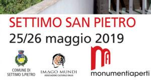 Banner Monumenti Aperti 2019 a Settimo San Pietro - 25 e 26 Maggio 2019 - ParteollaClick