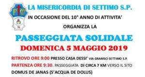 Banner PASSEGGIATA SOLIDALE per il 10° anno di attività della Misericordia - Settimo San Pietro - 5 Maggio 2019 - ParteollaClick