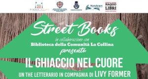 Banner Presentazione del libro IL GHIACCIO NEL CUORE di e con Livy Former - Comunità La Collina, Serdiana - 7 Maggio 2019 - Street Books