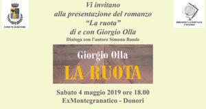 Banner Presentazione del libro LA RUOTA di e con Giorgio Olla - Donori, Ex Montegranatico - 4 Maggio 2019 - ParteollaClick