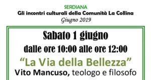 Banner Presentazione del libro La Via della Bellezza di e con Vito Mancuso - Serdiana, Comunità La Collina - 1 Giugno 2019 - ParteollaClick