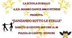 Banner Danzando Sotto le Stelle, 19° Anniversario della Scuola di Ballo Mambo Dance 2000 e Fitness - Donori - 22 Giugno 2019 - ParteollaClick