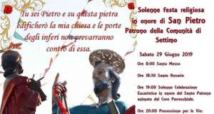 Banner Festa Liturgica in onore del Santo Patrono San Pietro Apostolo - Settimo San Pietro - 29 Giugno 2019 - ParteollaClick