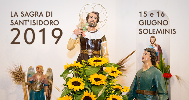 Banner Sagra di Sant'Isidoro - Soleminis, Chiesa Campestre di Sant'Isidoro - 15 e 16 Giugno 2019 - ParteollaClick