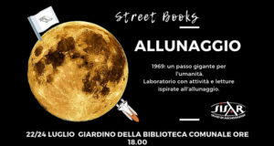 Banner ALLUNAGGIO, laboratorio con attività e letture ispirate allo sbarco dell'uomo sulla luna - Dolianova, Biblioteca Comunale - 22 e 24 Luglio 2019 - ParteollaClick