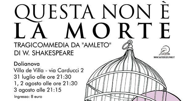 Banner QUESTA NON È LA MORTE, tragicommedia tratta da AMLETO - Dolianova, Villa de Villa - 31 Luglio, 1, 2 e 3 Agosto 2019 - ParteollaClick