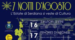 Banner 7 NOTTI D'AGOSTO, l'Estate di Serdiana si veste di Cultura - Serdiana - Il 16, il 17, il 18, il 23, il 24, il 30 e il 31 Agosto 2019 - ParteollaClick