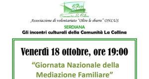 Banner Giornata Nazionale della Mediazione Familiare - Comunità La Collina, Serdiana - 18 Ottobre 2019 - ParteollaClick