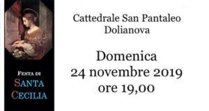 Banner Festa di Santa Cecilia 2019 Patrona dei Musicisti - Dolianova, Cattedrale di San Pantaleo - 24 Novembre 2019 - ParteollaClick