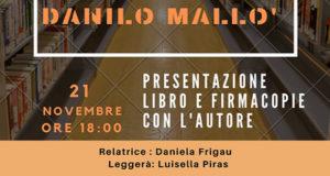Banner Presentazione del libro MEMORIE DI UN'ANIMA di Danilo Mallò - Dolianova, Biblioteca Comunale - 21 Novembre 2019 - ParteollaClick