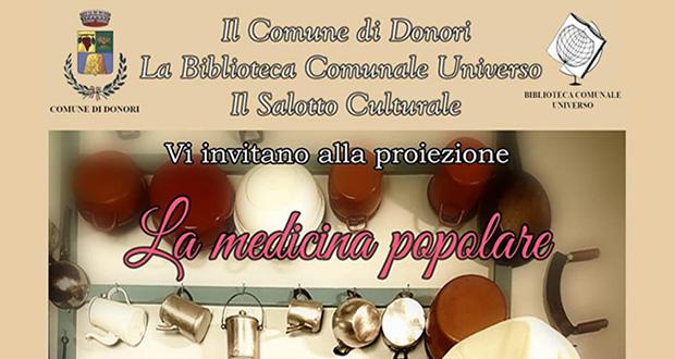 Banner Presentazione e proiezione del documentario LA MEDICINA POPOLARE di Davide Massa - Donori, Ex Montegranatico - 17 Novembe 2019 - ParteollaClick
