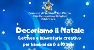 Banner Decoriamo il Natale, letture e laboratorio creativo per bambini - Settimo San Pietro, Casa Dessy e Biblioteca Comunale - 13 e 20 Dicembre 2019 - ParteollaClick