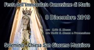 Banner Festa dell'Immacolata Concezione di Maria 2019 - Soleminis - 8 Dicembre 2019 - ParteollaClick