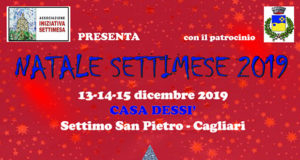 Banner Natale Settimese 2019 a Casa Dessy - Settimo San Pietro - Dal 13 al 15 Dicembre 2019 - ParteollaClick