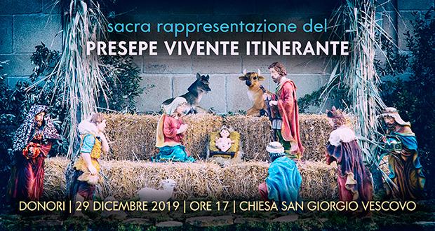 Banner Sacra rappresentazione del PRESEPE VIVENTE itinerente, lungo le vie del centro storico - Donori - 29 Dicembre 2019 - ParteollaClick