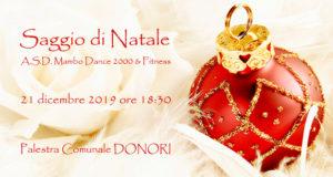 Banner Saggio di Natale 2019 della Scuola di Ballo Mambo Dance 2000 e Fitness - Donori - 21 Dicembre 2019 - ParteollaClick
