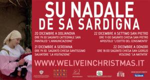 Banner We Live In Christmas, rievocazione itinerante del Natale in Costume Sardo - Dolianova, Serdiana, Settimo San Pietro e Donori - Dal 20 al 22 Dicembre 2019 - ParteollaClick