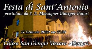 Banner Festa di Sant'Antonio Abate 2020 presieduta da S. E. Monsignor Giuseppe Baturi - Donori - 17 Gennaio 2020 - PartreollaClick